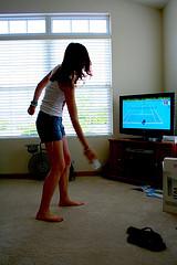 Jeu vidéo de tennis sur la console de jeu Wii