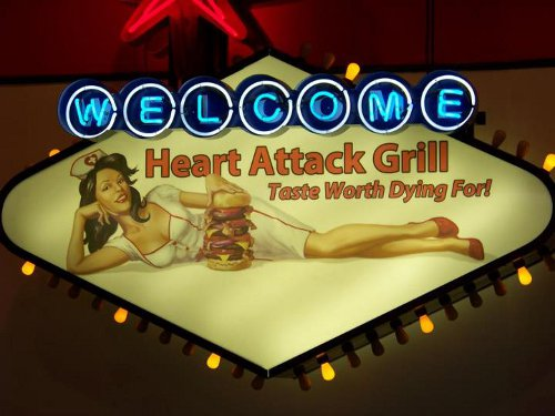 "Enseigne ""Heart Attack Grill"" à Las Vegas"
